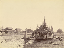 King Theebaw's State Barge on the moat, [Mandalay]
